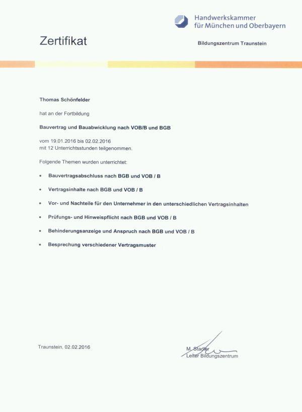 Bauvertrag - Abwicklung