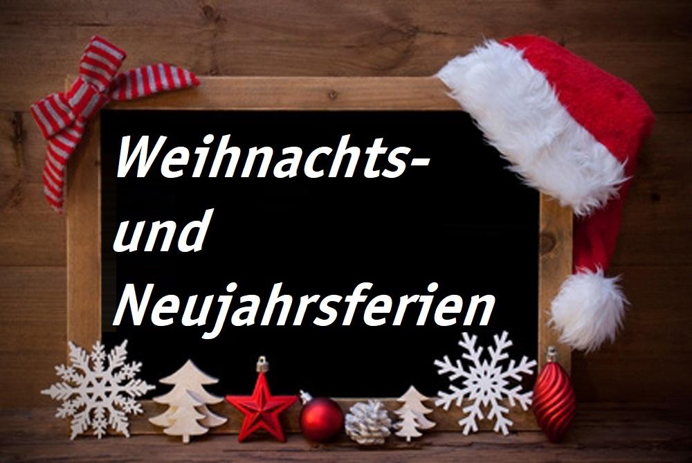 ZIEMER - Weihnachts- und Neujahrsferien